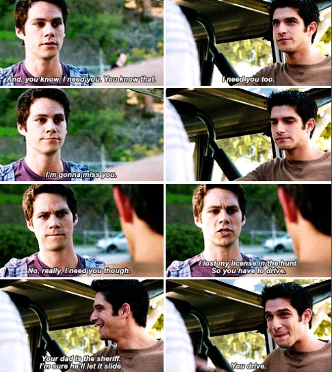 The ending made my heart hurt it really felt like it was ending right there with everything coming in full circle. My boys have grown up.. / Scott McCall and Stiles Stilinski