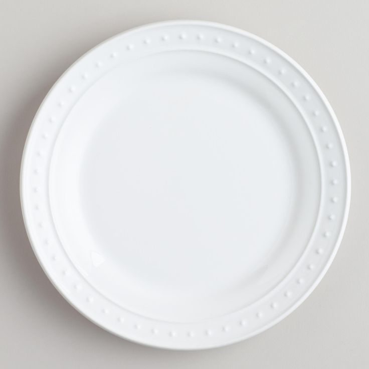 Nantucket Salad Plates, Set of 4 in White, Ivory or Aqua from World Market- $15.96-$19.96