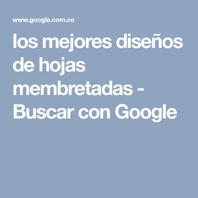 los mejores diseños de hojas membretadas - Buscar con Google