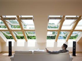 The VELUX INTEGRA is a remote control roof window that allows you to control your window from the comfort of your sofa. Electric or solar operated, it's a must for someone who likes their gadgets.