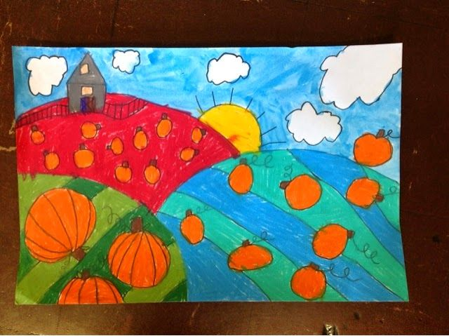 Color It Like you MEAN it!: 2nd grade  Teach foreground, middle ground, background