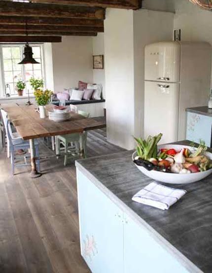 smegCottages Kitchens, Dreams Kitchens, Exposed Beams, Expo Beams, Kitchens Dining, Rustic Kitchens, Farmhouse Kitchens, Wood Beams, White Kitchens