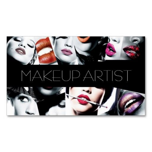 Best Makeup Artist Business Cards Images On Pinterest Make - Makeup artist business cards templates free