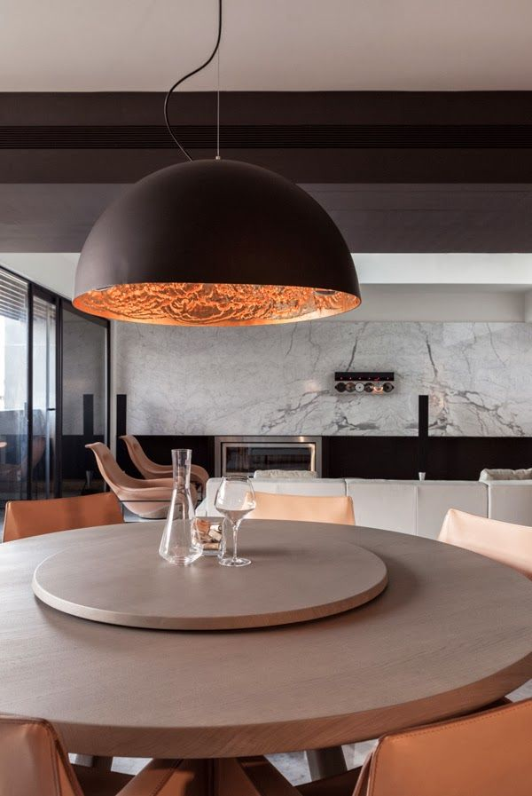 Luzhou Penthouse Photographs Inspirations Area Lights Over Dining Table Round Dining Room Table Dining Room Design