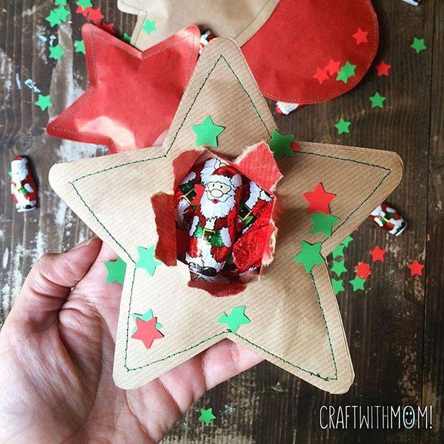 Εκπλήξεις μέσα σε ραμμένο χαρτί! Το πιο πρωτότυπο περιτύλιγμα 🎄⭐️☃️ #christmas #christmaswrapping #surprise #sewing #paper