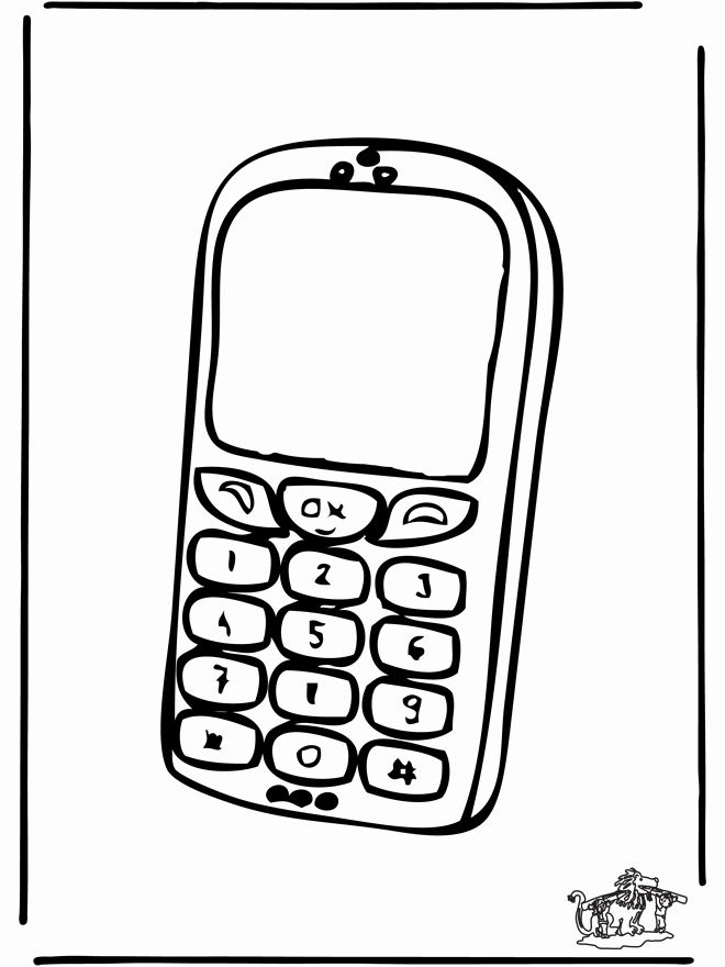 Cell Phone Coloring Page New Cell Phone Drawing At Getdrawings