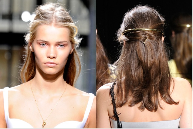 Spring Hair Trends: Gold Accents