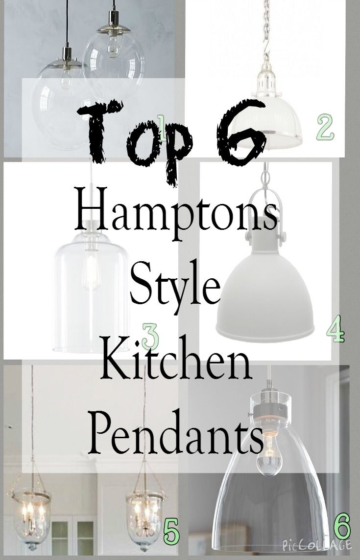 There are so many gorgeous pendant lights available, I've been busy researching and these are my top 6 Hamptons style kitchen pendant lights.