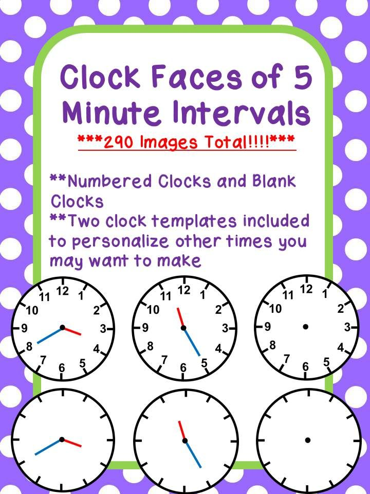 clock faces of 5 minute intervals 290 images total clock faces telling time and clock. Black Bedroom Furniture Sets. Home Design Ideas