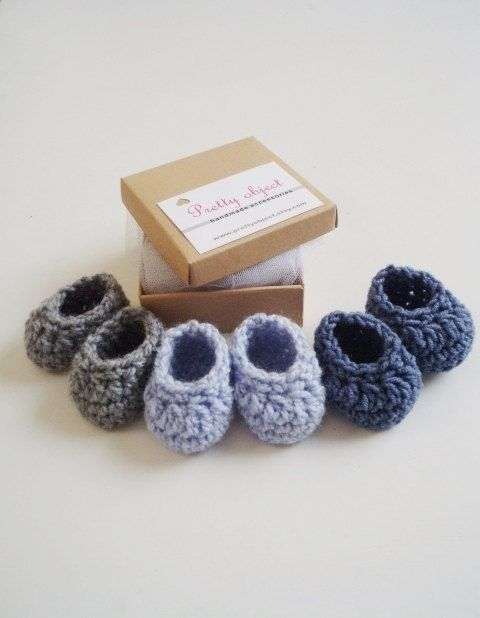 Бабушки и дедушки беременности объявления детские крючком пинетки новорожденного выявить гендерные обувь в коробке больница подарок ручной работы детские тапочки