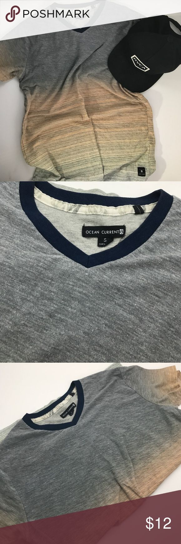 Ocean Current Men's tee Ocean Current brings beach influenced style to your favorite trends. short sleeves. Cotton 60% Polyester 40% blend. All clothes are from a smoke free/pet free home. I accept all reasonable offers and give discounts with bundle orders. Ocean Current Shirts Tees - Short Sleeve