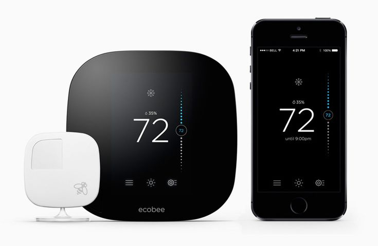 ecobee3 smart thermostat connects the home with wireless remote sensors - designboom | architecture