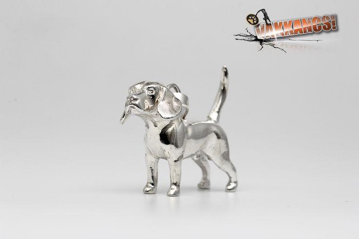 Vakkancs miniszobor kutyás ékszerek - Beagle ezüst miniszobor medál