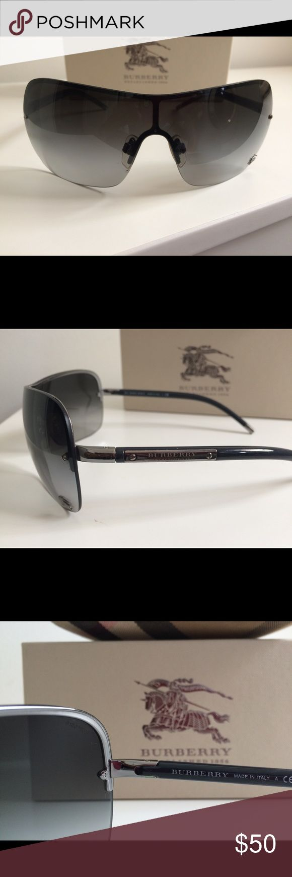 Burberry model B3033 gray lenses , like new Only used couple times , it comes with original box and case ! Burberry Accessories Sunglasses