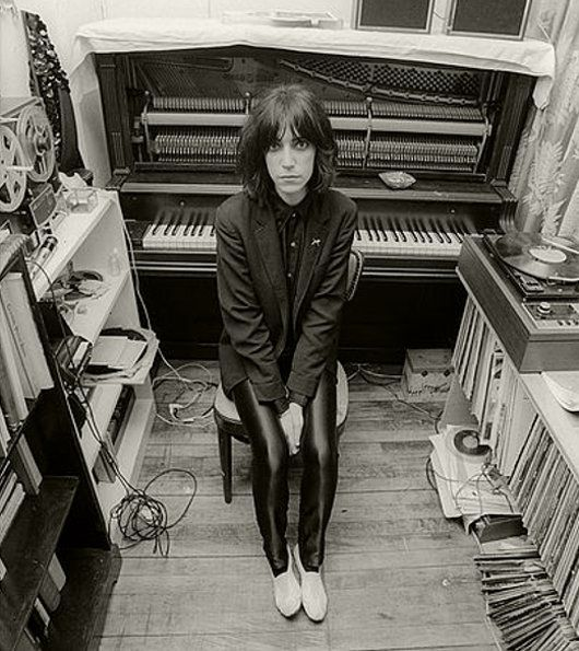 Patti Smith in her apartment on Macdougal Street, 1974 •