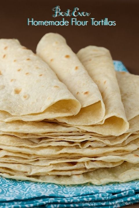 Homemade Flour Tortillas, so easy, SO good! TM conversions 480g flour 70g oil 250g water
