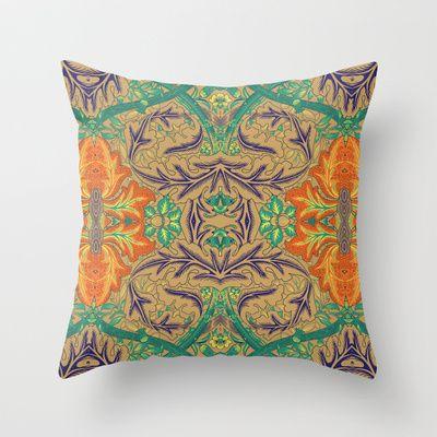 Orange Bloom Throw Pillow by Geetika Gulia - $20.00