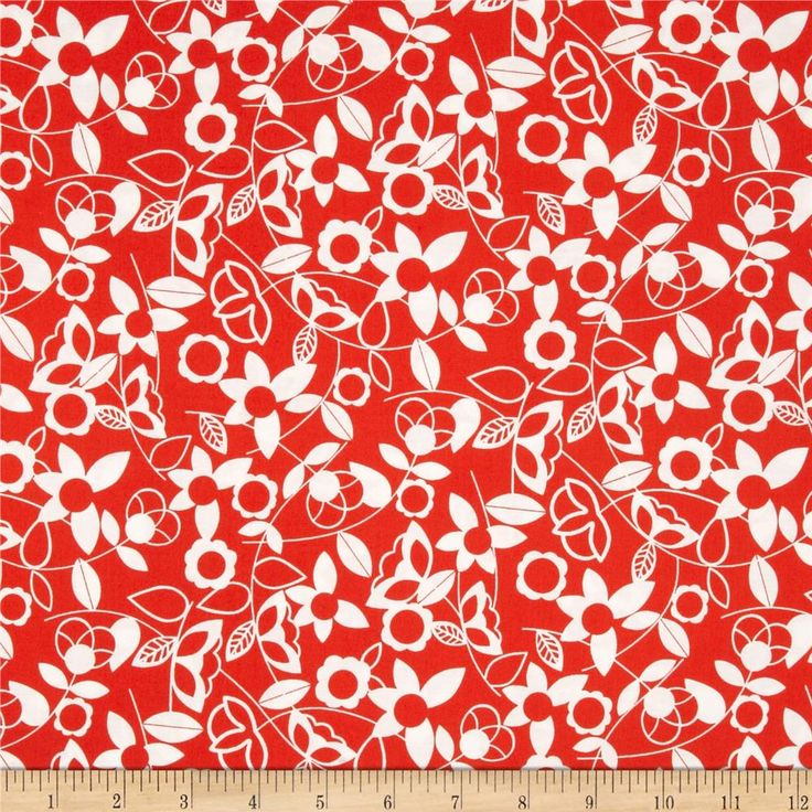 Modern Mixers Floral Orange from @fabricdotcom  Designed for StudioE Fabrics, this cotton print fabric is perfect for quilting, apparel and home decor accents.