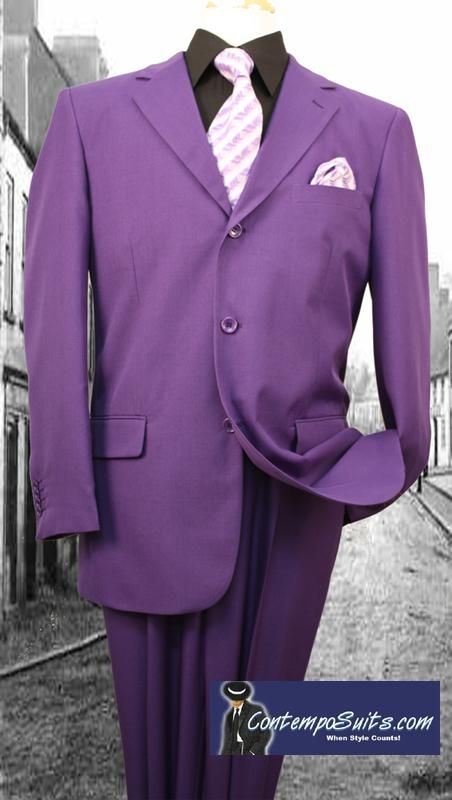 Purple Suits by Lucci 3 Button Single Breasted Mens Suit 3PP. For Conner's joker suit