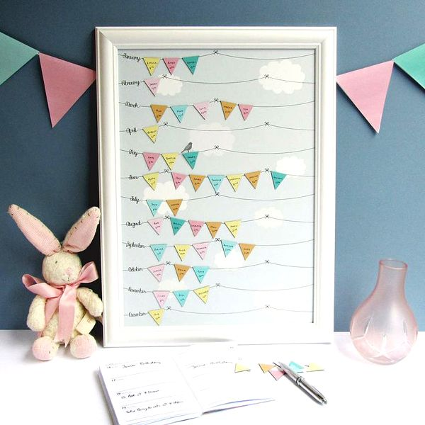 Unique and Chic Weddings : Birthday Reminder Calender by Random Imaginings