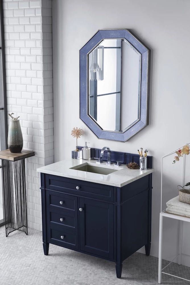 "36"" brittany single bathroom vanity victory blue  single"
