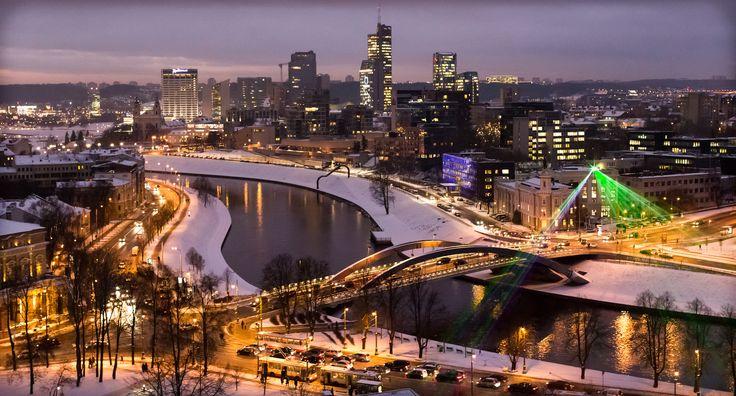 City of Vilnius at night