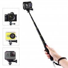 For Gopro Hero 6/ Hero 5/ SJ6000/ SJ7000/XiaoMi Yi Selfie Stick Waterproof Handheld Monopod Extendable Pole