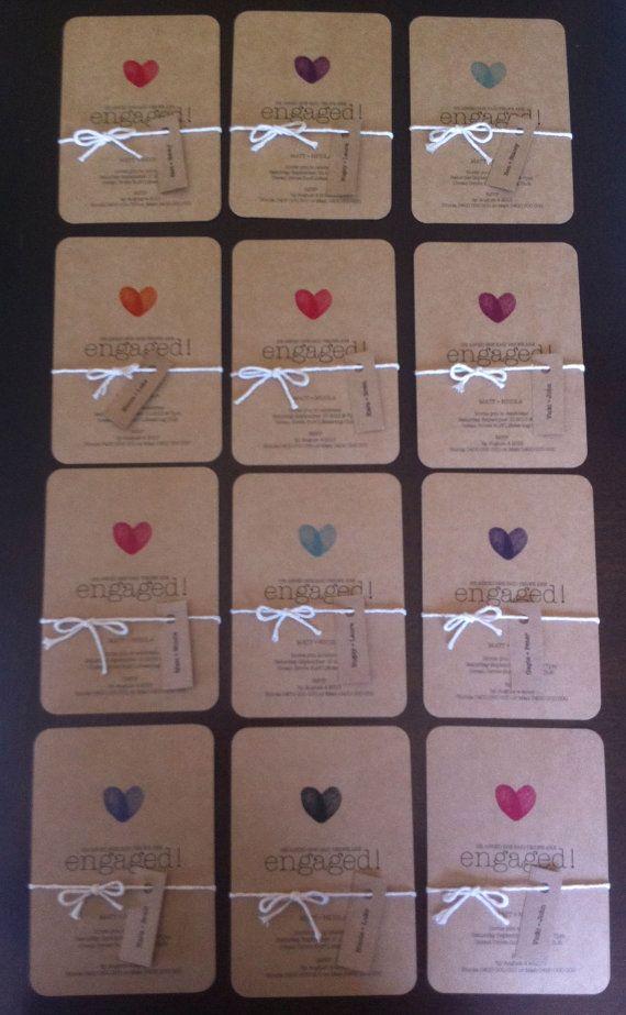 Kraft Brown Paper Wedding Engagement Invitation by MintConfetti, $2.20