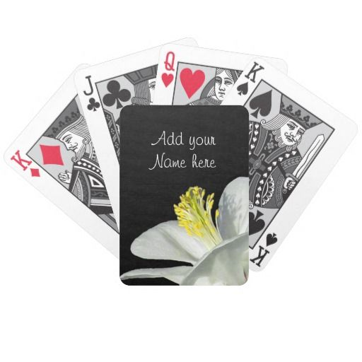 Black and White Playing Cards #gift #playingcards