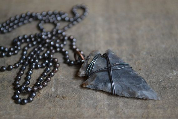 Arrowhead Necklace Mens Necklace Chain Necklace by MANLYandRUGGED http://www.thesterlingsilver.com/product/925-sterling-silver-lucky-horse-shoe-cufflinks-gift-boxed-for-your-special-man/