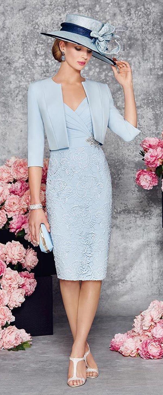 Elegant Satin & Lace V-neck Neckline Sheath Knee-length Mother Of The Bride Dress With Beadings