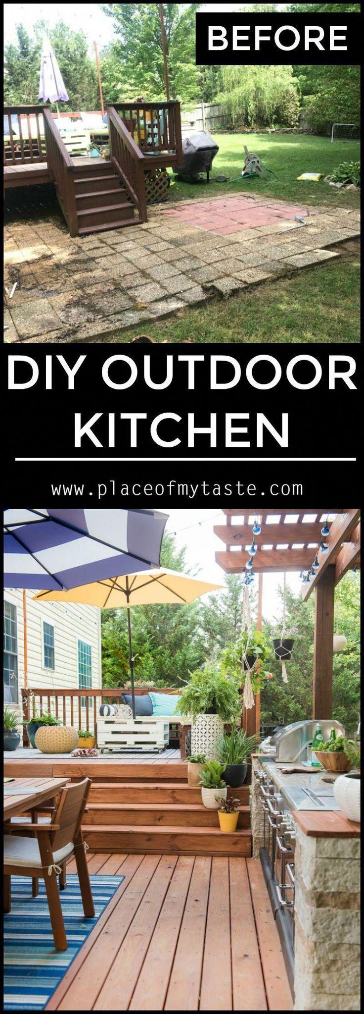 Kommen Sie und sehen Sie diese erstaunliche DIY-Outdoor-Küche, die wir gebaut haben. Ich kann Ihnen versichern, dass meine Familie dort draußen viel Zeit verbringen wird. Fabelhafte Außenküche – IKAE Dekoration