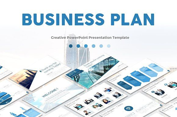 Business Plan PowerPoint Template by OneGraph on @creativemarket