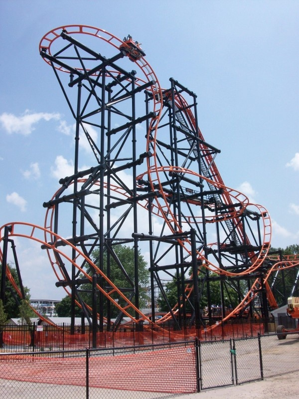 Steel Hawg | Indiana Beach | USA, steepest drop US @ 111 degrees. Not a world record held by Takabisha in Japan @ 121 degrees.