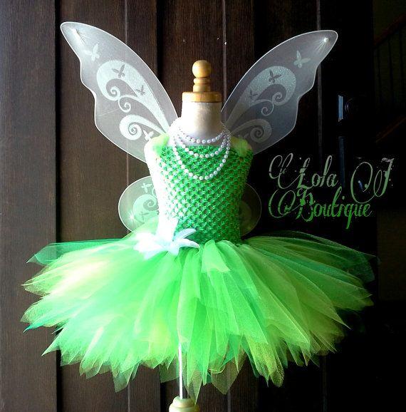 Glitter Green Tink Tutu Dress SET Girls Infant 2 by LolaJBoutique