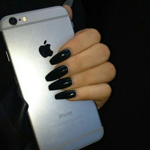 black nails tumblr - Google Search