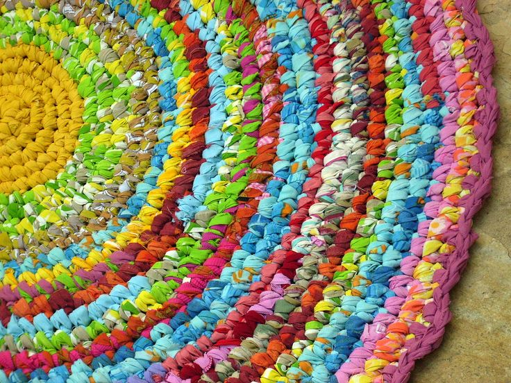 Would Love To Make Some Funky Rugs Out Of Old Sheets, T Shirts Or