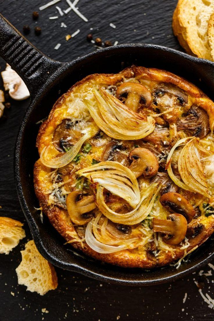 Frittata z grzybami i cebulą