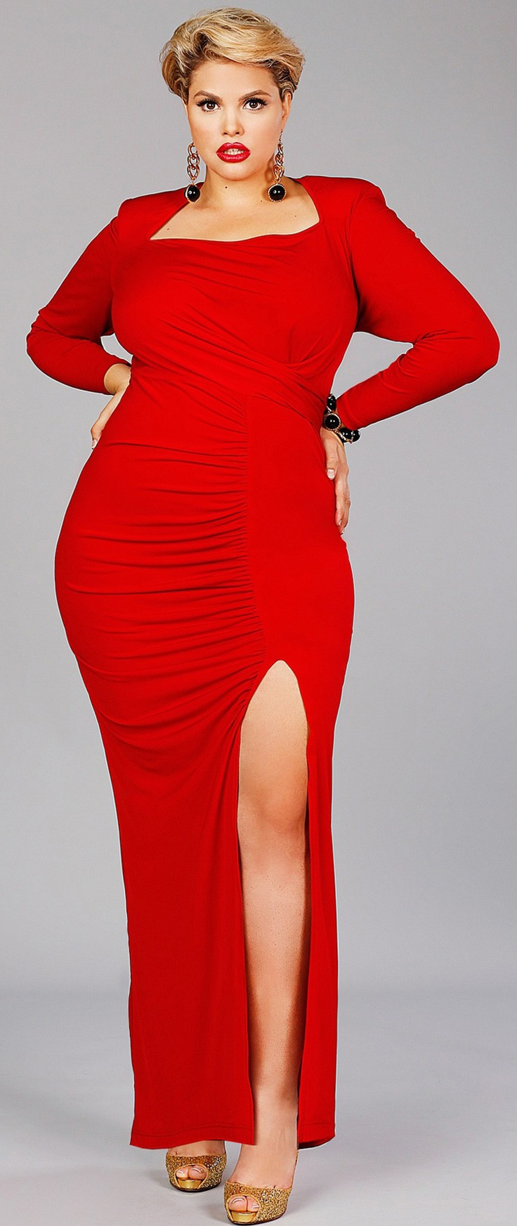 Fierce Red Dress #plussize #psfashion