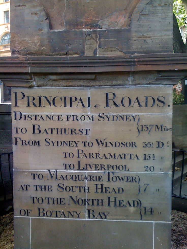 This is the measuring stone at the corner of Bridge Street and Loftus Street from which distances in New South Wales were measured.