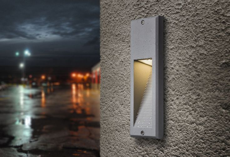 FACA | rendl light studio | Recessed wall light for outdoor use. Downward illumination. #light #recessed #outdoor #wall