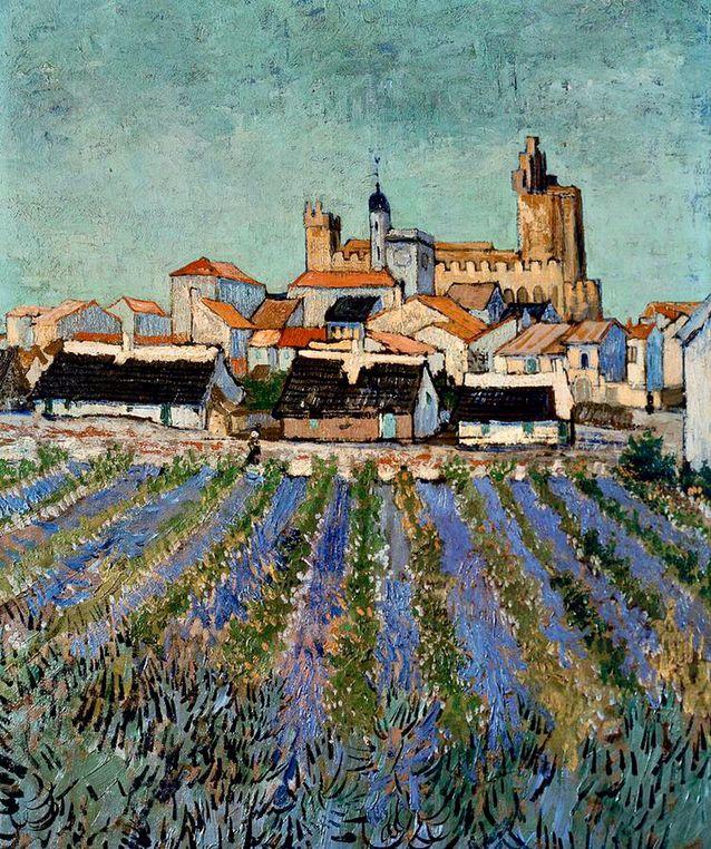 Saintes Maries De La Mer By Vincent Van Gogh Van Gogh Vincent Van Gogh Paintings Van Gogh Paintings