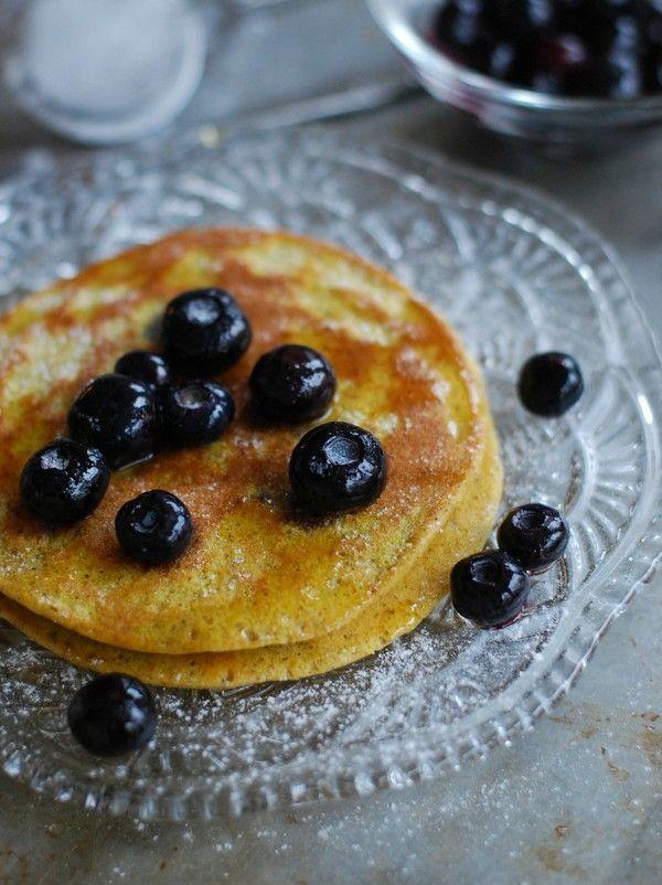 Healthy pumpkin pancakes - Hälsosamma pumpapannkakor  //Baka Sockerfritt