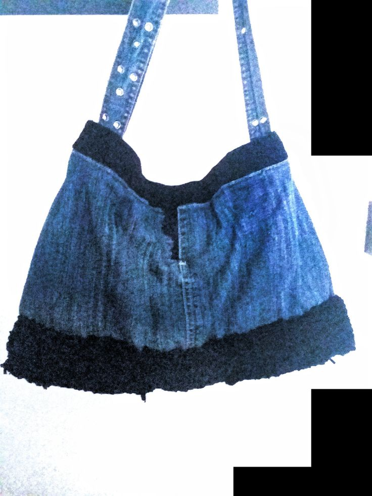 recycled jean bag by AtticDisir on Etsy