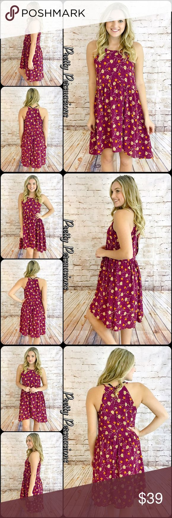nwt floral print baby doll dress nwt floral print baby doll dress available in s