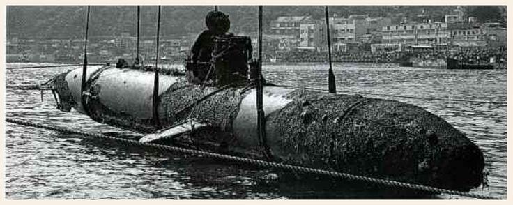 Japanese midget submarine, WWII,  May 1958 Sea dragon drawn up off Atami Mesai in Atami