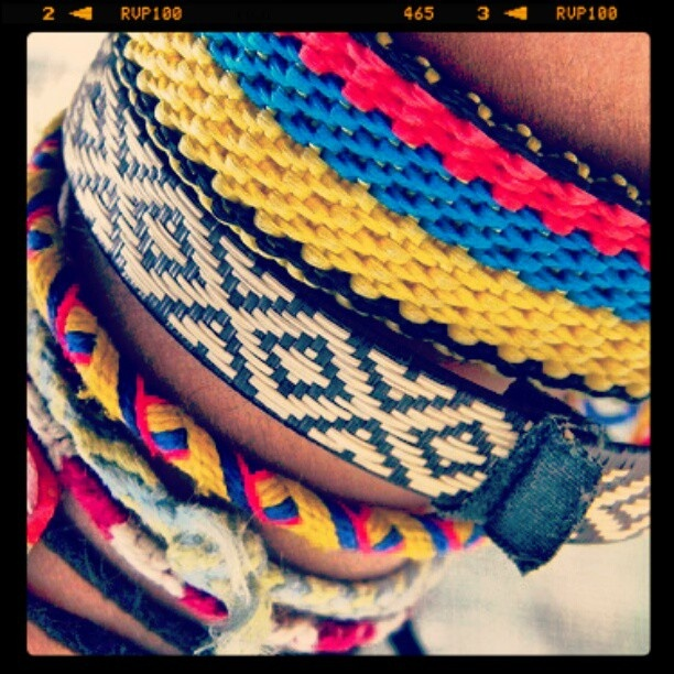 """Colombian bracelets or """"manillas"""" are one of my favorite things to wear to remind me of my country <3 plus they only cost like a dollar!!"""