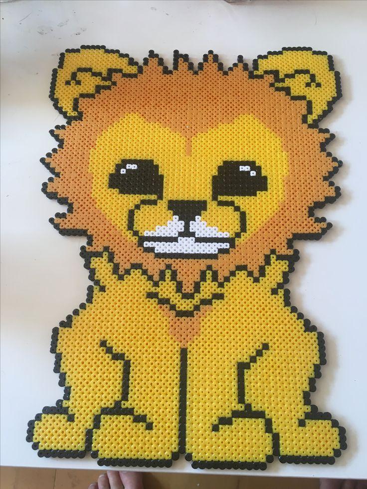 Lion hama Beads