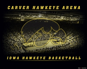 Iowa Hawkeyes Basketball CARVER HAWKEYE ARENA Is Lauren buying season tickets?  Why yes, yes she is.
