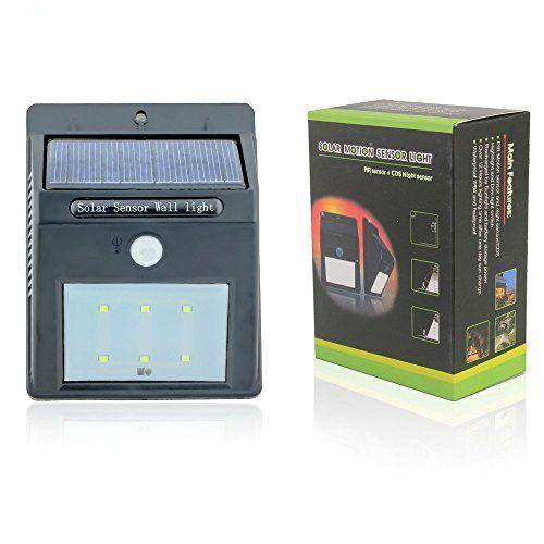 Elinkume Bewegung aktiviert Security Solar Sensor Wandleuchte Powered LED Lampe mit Kaltes Weiß 10X ELINKUME http://www.amazon.de/dp/B0116UD3HY/ref=cm_sw_r_pi_dp_dvGSvb0MZCM4J